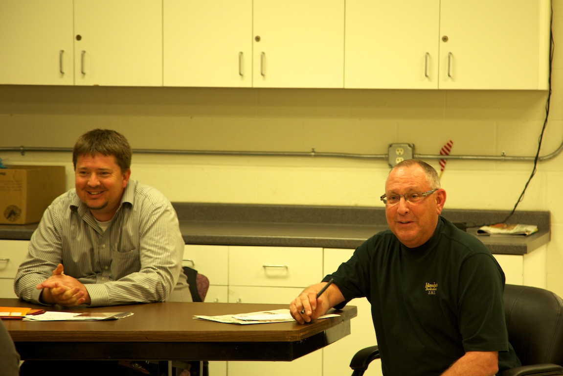Clean Streets Committee Chair, David Grant (left), and Public Works' Frank O'Brien