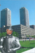 Is Tinman Chiofaro using the Greenway Conservancy to get to the wizard?