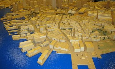 Boston Redevelopment Authority Model (Photo courtesy of Conbon)