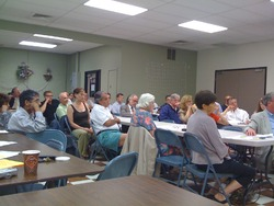 North End Residents Listening to Presentations