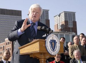 Sen. Kennedy at the North End Greenway Parks Opening