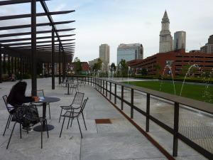 The pergola vines are not growing fast enough, so watch for new shade structures on the Greenway parks.