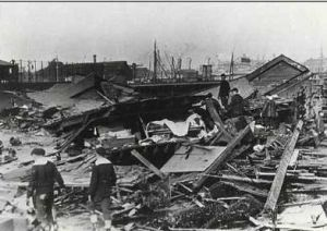 Aftermath of molasses flood from tank break at 529 Commercial St.