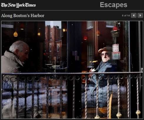 """""""Men at North End Cafe"""" (Click image to see the slide show at NY Times website.)"""