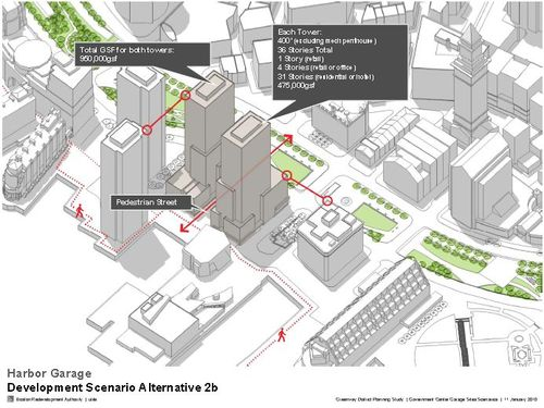 A possible scenario for the Harbor Garage site presented in January 2010.