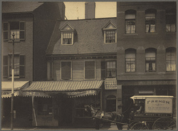 Mather-Eliot House; Hanover & N. Bennet Streets; c1898 (Photo: Boston Public Library)