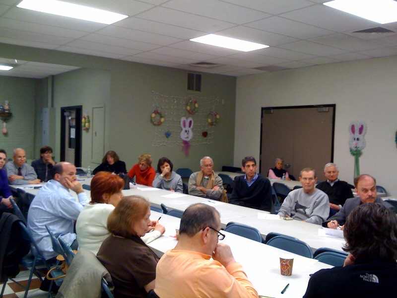 High attendance at this month's Clean Streets Committee meeting.