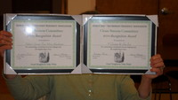 The first two awards as part of the Good Neighbor Recognition Award program. Winners for April 2010 are V. Cirace & Sons on Richmond Street and Salem Street True Value Hardware.