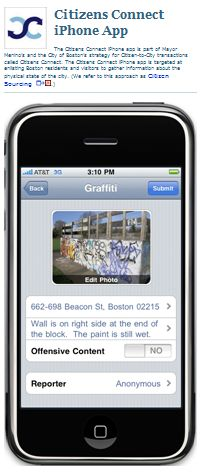 Citizens Connect iPhone App (Click Image for More Information)