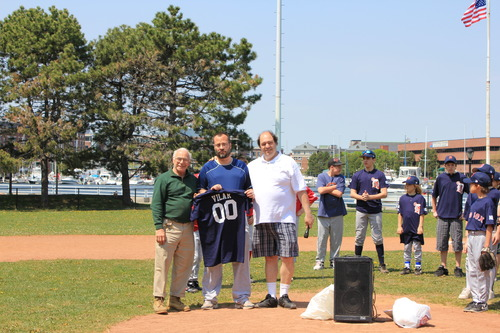 Opening Ceremonies included a tribute to Frankie Vilar who was very involved in the league.