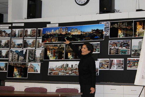 Executive Producer, Nan Morales, details the filming process to North End residents & businesses