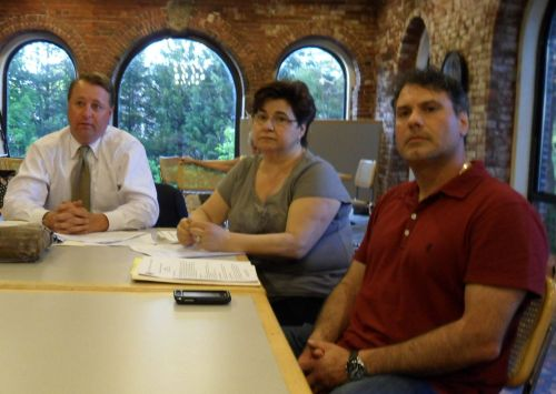 Nick Cerundolo (r) and mother-in-law, Lina, with their attorney at the NEWRA ZLC meeting.