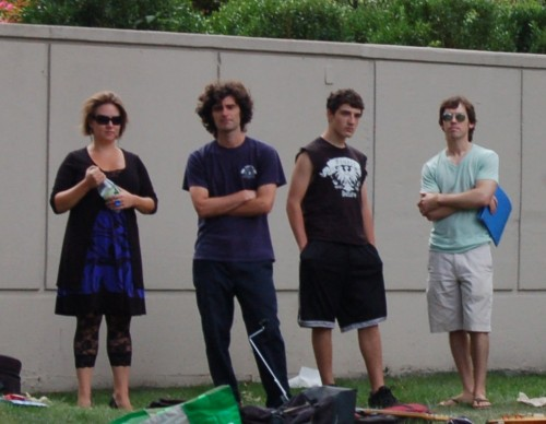Members of the NEMPAC Rock Band pose for a future album cover at the WECF