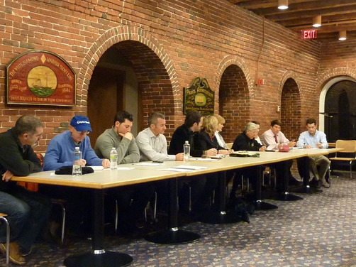 The North End / Waterfront Neighborhood Council (NEWNC) sits for their November meeting.
