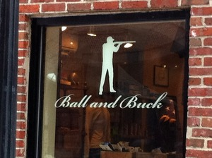 Ball and Buck Window on Lewis St.