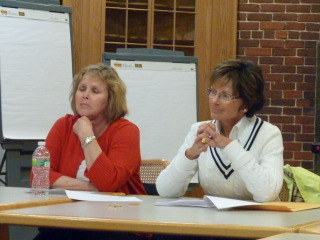 Tia's Owner Lori Lilly (right) & Katie Gorman, General Manager, present at this week's NEWRA ZLC meeting.