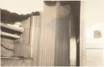 #13 Hanover St., North End. Toilet partition does not reach ceiling 1936 (Courtesy of Boston Public Library)