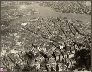 Aerial Downtown North End 1928 (Courtesy of Boston Public Library)