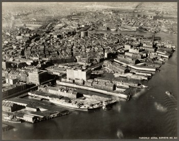 Aerial North End Waterfront 1928 - (Courtesy of Boston Public Library)