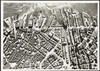 Aerial North End Waterfront 1944 (Courtesy of Boston Public Library)