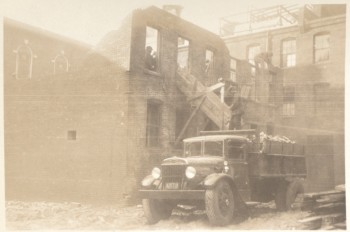 Demolition between Hanover Ave. and Harris St., North End 1936 (Courtesy of Boston Public Library)