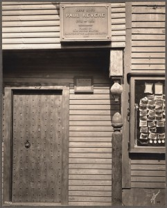 Entrance to Paul Revere House. Built 1680, taken 1909 by Thomas Marr (Courtesy of Boston Public Library)