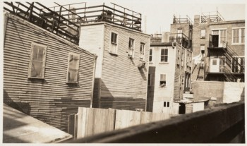 Houses on Salem St. Old wooden houses 1932 (Courtesy of Boston Public Library)