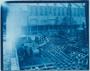 Lincoln Wharf under construction in 1900 (Source: private collection)