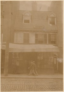 Mather-Elliot House, Hanover St. (Home of Cotton Mather) (Courtesy of Boston Public Library)