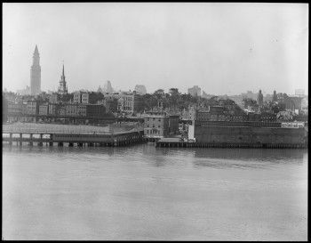 North End Skyline - Clock on Old North Church (Courtesy of Boston Public Library)