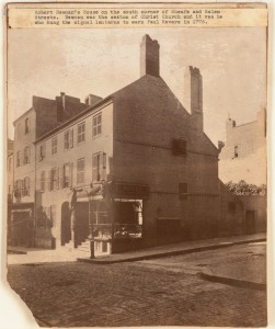 Newmans House on Corner of Sheafe St. and Salem St. (Courtesy of Boston Public Library)