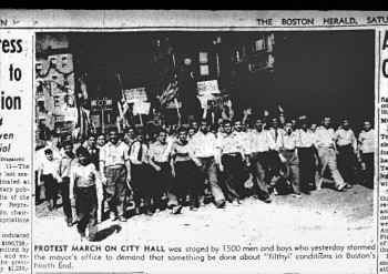 North End March 1939 - Courtesy of Boston Herald - Cover of Street Corner Society