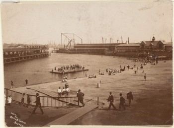 North End Park, Navy Yard in background Photo by Frank B. Conlin 1908 (Courtesy of Boston Public Library)
