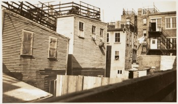 North End tenements 1930 - 1939 (Courtesy of Boston Public Library)