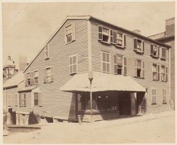 Old building on Prince St. Built in 1770. Used by the British during the Revolution as a hospital 1892 (Courtesy of Boston Public Library)