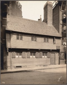 Paul Revere House Taken 1909 by Thomas Marr (Courtesy of Boston Public Library)
