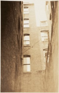 Rear of Cleveland Place - North End 1934 (Courtesy of Boston Public Library)