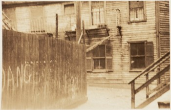 Rear of house on Page's Court North End 1935 (Courtesy of Boston Public Library)