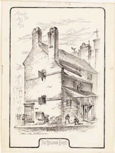 The Newman House, Sheafe and Salem Streets  Tolman, George R., 1848-1909 (artist) (Courtesy of Boston Public Library)