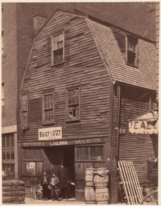 Thoreau House, Prince St. Built in 1727 (Courtesy of Boston Public Library)