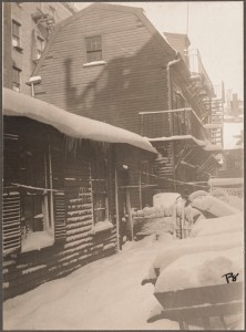 William Clough House off Charter Street. Built 1698 (Courtesy of Boston Public Library)