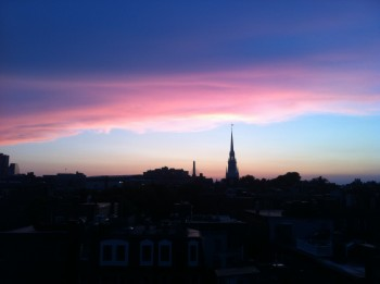 Sky over Old North - Fall 2011 by Jerry Cordasco