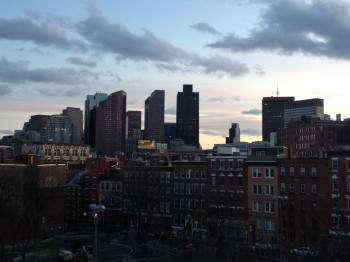 Boston Skyline from North End - March 2012 by Lauren Sandonato