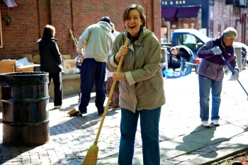 NEWRA President says sweeping can be fun!