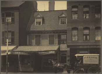 Mather-Eliot House at Hanover and N. Bennet 1898 (Courtesy of Boston Public Library)