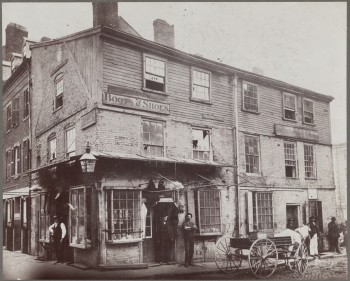 Old house, corner of Lewis and North Streets (Courtesy of Boston Public Library)