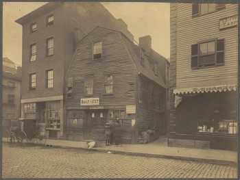 Thoreau House on Prince St. - 1898 (Courtesy of Boston Public Library)