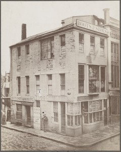 Union St. about 1860 (Courtesy of Boston Public Library)