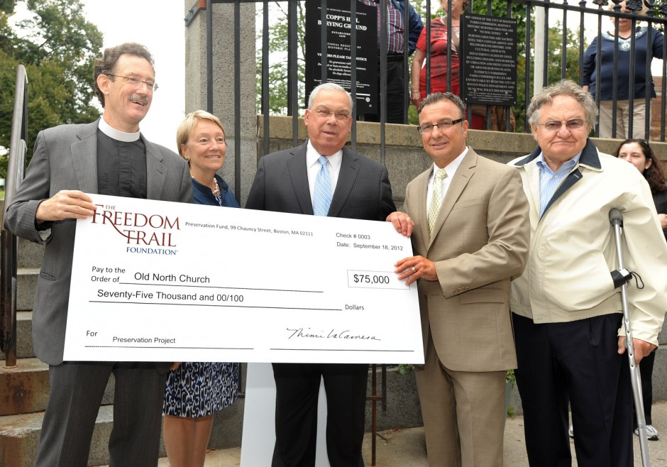 """Big Checks"" Celebration of Freedom Trail Foundation ..."