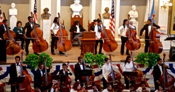 Bass Soloists from Boston Youth Orchestra  Intensive Community Program on MLK Jr Day 2013 at Faneuil Hall